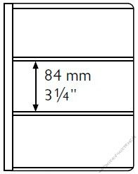 Ersatzhüllen für Banknotenalbum 5er Pack für 3 Banknote bis 195 x 84 mm (EB-84)