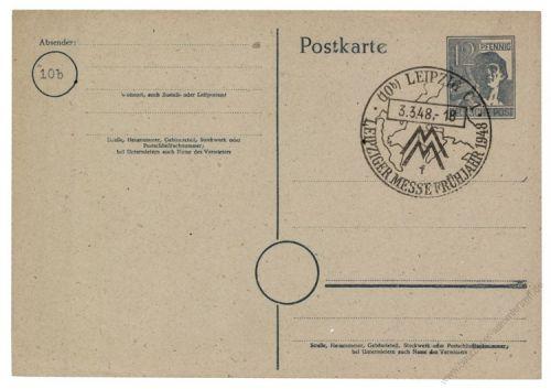 Gemeinschaftsausgaben 1948 Mi-Nr. P962 SSt. Leipziger Frühjahrsmesse