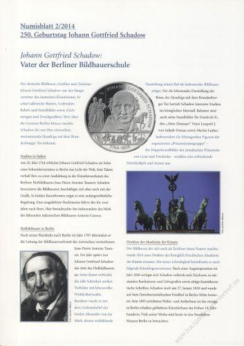 BRD 2014 Beschreibung für Numisblatt 2/2014 und 3/2014