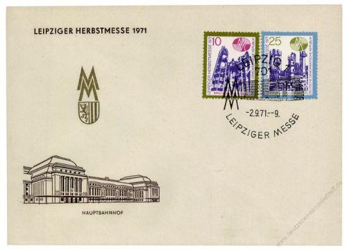 DDR 1971 FDC Mi-Nr. 1700-1701 SSt. Leipziger Herbstmesse