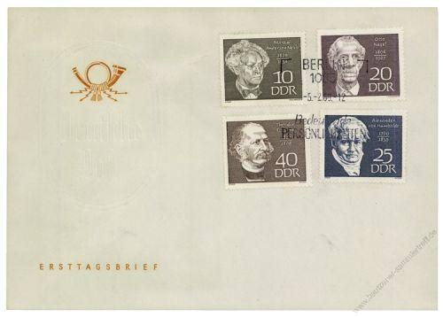 DDR 1969 FDC Mi-Nr. 1440-1443 SSt. Berühmte Persönlichkeiten