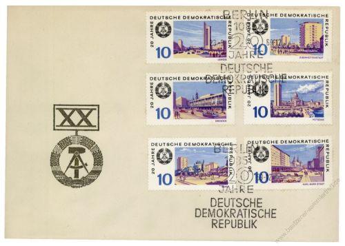 DDR 1969 FDC Mi-Nr. 1495-1506 SSt. 20 Jahre DDR