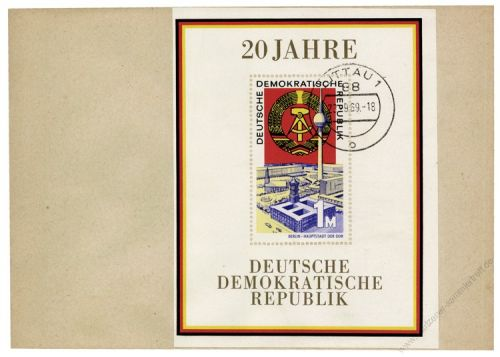 DDR 1969 FDC Mi-Nr. 1507 (Block 28) ESt. 20 Jahre DDR