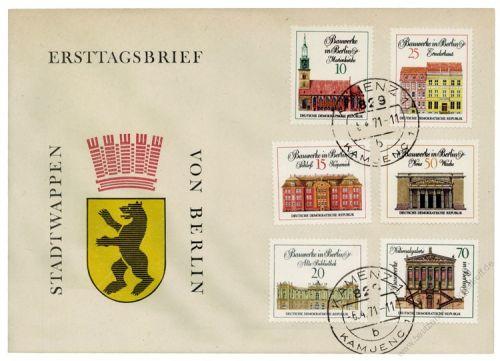 DDR 1971 FDC Mi-Nr. 1661-1666 ESt. Bedeutende Bauwerke