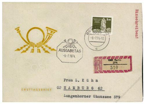 DDR 1974 FDC Mi-Nr. 1968 ESt. Aufbau in der DDR