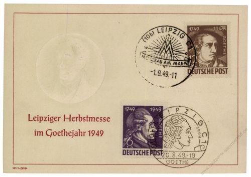 SBZ 1949 Mi-Nr. 234, 235 SSt. Leipziger Herbstmesse im Goethejahr