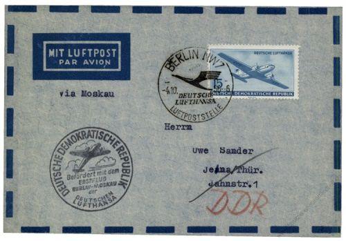DDR 1956 Erstflug Berlin-Moskau - Mi-Nr. 514