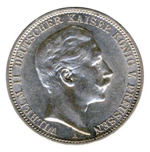 Preussen 1911 A J.103 3 Mark Wilhelm II. (1888-1918) vz-st