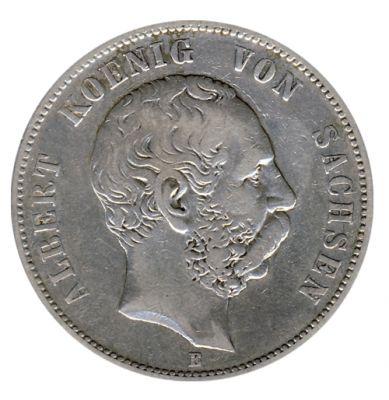 Sachsen 1876 E J.122 5 Mark Albert (1873-1902) ss