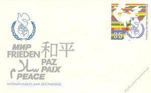 DDR 1986 Mi-Nr. U05 * Int. Jahr des Friedens