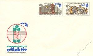 DDR 1987 Mi-Nr. U06 * Leipziger Frühjahrsmesse 1987