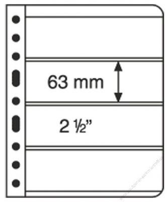 LE VARIO 4C - 5er Pack Hüllen 4er-Teilung glasklar bis 195 x 63 mm