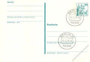 Berlin 1979 Mi-Nr. P109 o Burgen und Schlösser