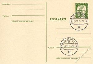 Berlin 1971 Mi-Nr. P082 o Dr. Gustav Heinemann