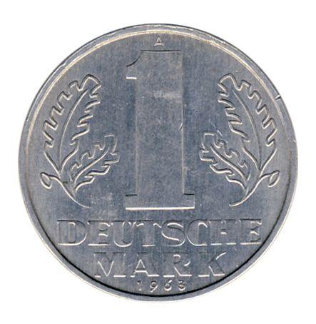 DDR 1963 J.1513 1 Mark Kursmünze vz