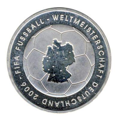 BRD 2003 J.499 10 Euro Fußball-WM-Deutschland 2006 Prägestätte: D st