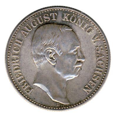 Sachsen 1914 A J.134 2 Mark Friedrich August III. (1904-1918) vz-st