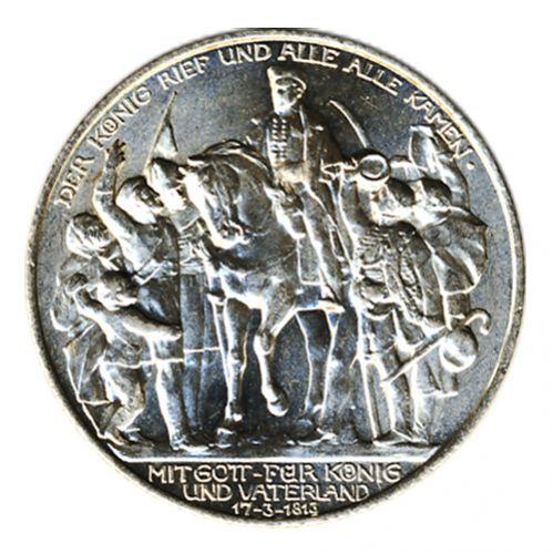 Preussen 1913 A J.109 2 Mark 100 Jahre Befreiungskampf vz-st