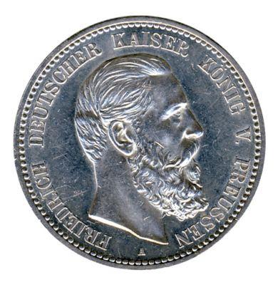 Preussen 1888 A J.99 5 Mark Friedrich III. (1888) vz-st