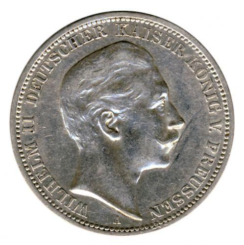 Preussen 1908 A J.103 3 Mark Wilhelm II. (1888-1918) vz