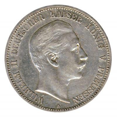 Preussen 1907 A J.104 5 Mark Wilhelm II. (1888-1918) ss