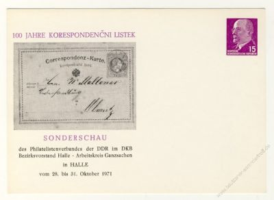 DDR Nr. PP010 D2/009 * 100 Jahre Korespondencni Listek
