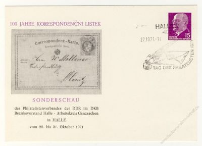 DDR Nr. PP010 D2/009 SSt. 100 Jahre Korespondencni Listek