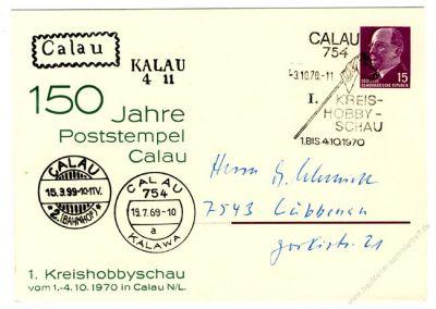 DDR Nr. PP010 D2/004 SSt. 150 Jahre Poststempel Calau