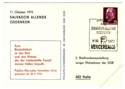 DDR Nr. PP010 D2/010a SSt. Salvador Allende Gedenken