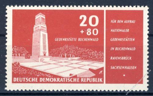 DDR 1956 Mi-Nr. 538 ** Aufbau Nationaler Gedenkstätten
