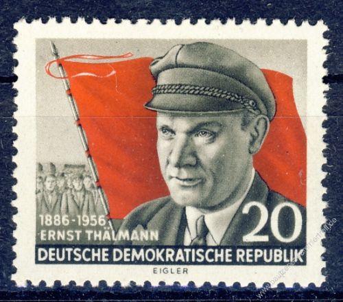DDR 1956 Mi-Nr. 520A ** 70. Geburtstag von Ernst Thälmann