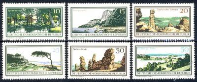 DDR 1966 Mi-Nr. 1179-1184 ** Natur- und Landschaftsschutzgebiete