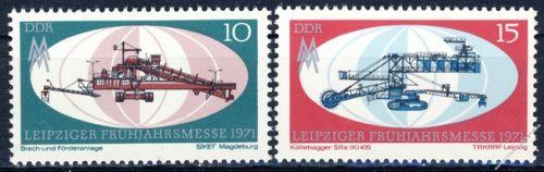 DDR 1971 Mi-Nr. 1653-1654 ** Leipziger Frühjahrsmesse