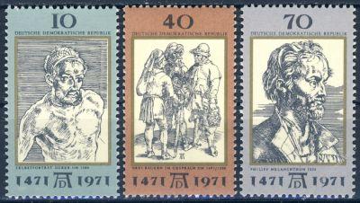 DDR 1971 Mi-Nr. 1672-1674 ** 500. Geburtstag von Albrecht Dürer