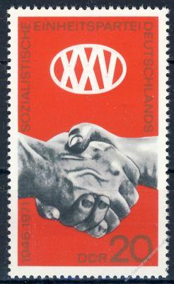 DDR 1971 Mi-Nr. 1667 ** 25 Jahre Sozialistische Einheitspartei Deutschlands
