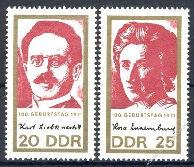 DDR 1971 Mi-Nr. 1650-1651 ** 100. Geburtstag von Rosa Luxemburg und Karl Liebknecht