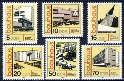DDR 1980 Mi-Nr. 2508-2513 ** Bauwerke im Bauhaus-Stil