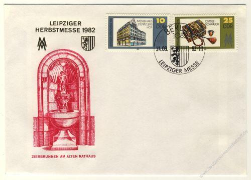DDR 1982 FDC Mi-Nr. 2733-2734 SSt. Leipziger Herbstmesse