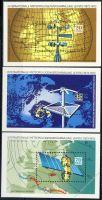 DDR 1972 Mi-Nr. 1745-1747 (Block 34-36) ** 100 Jahre Meteorologen-Versammlungen