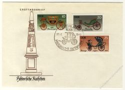 DDR 1976 FDC Mi-Nr. 2147-2152 SSt. Historische Kutschen