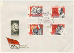 DDR 1986 FDC Mi-Nr. 3009-3012 SSt. Parteitag der Sozialistischen Einheitspartei Deutschlands