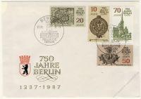 DDR 1986 FDC Mi-Nr. 3023-3026 SSt. 750 Jahre Berlin
