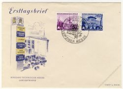 DDR 1955 FDC Mi-Nr. 447-448 SSt. Leipziger Frühjahrsmesse