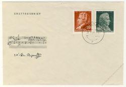 DDR 1956 FDC Mi-Nr. 510-511 ESt. 200. Geburtstag von Wolfgang Amadeus Mozart