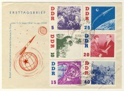 DDR 1961 FDC Mi-Nr. 863-868 SSt. Besuch des sowjetischen Kosmonauten German Titow