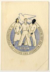 DDR 1951 FDC Mi-Nr. 289-292 SSt. Weltfestspiele der Jugend und Studenten (amtliche Faltkarte)