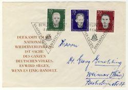 DDR 1960 FDC Mi-Nr. 765-767 SSt. Nationale Gedenkstätte Sachsenhausen