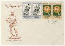 DDR 1960 FDC Mi-Nr. 791-792 ESt. 400 Jahre Dresdener Kunstsammlungen im waagerechten Paar