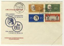 DDR 1960 FDC Mi-Nr. 795-798 (ZD) ESt. 150 Jahre Humboldt-Universität zu Berlin