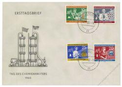 DDR 1960 FDC Mi-Nr. 800-803 ESt. Tag des Chemiearbeiters